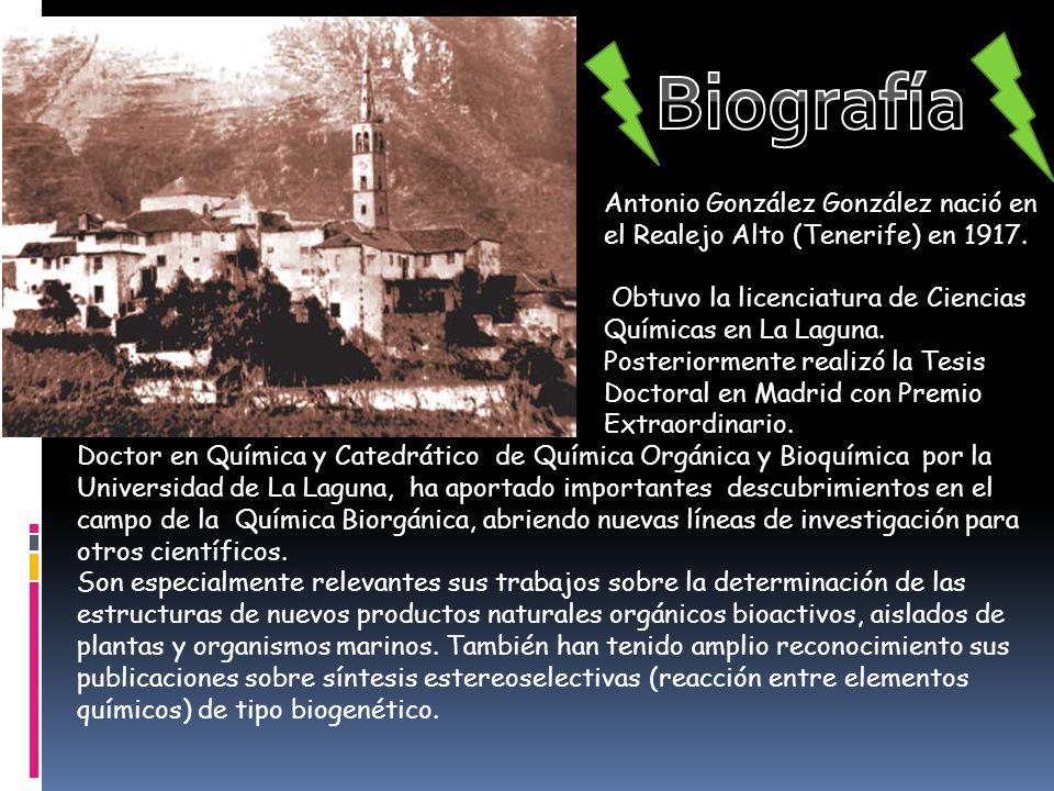Biografía Antonio González González nació en el Realejo Alto (Tenerife) en 1917.