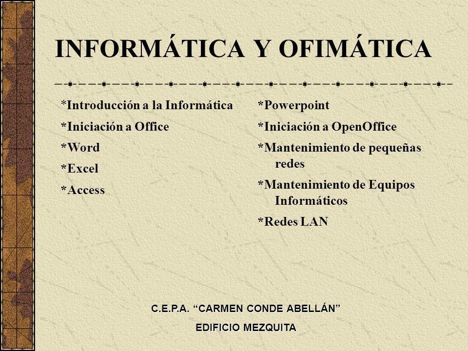 INFORMÁTICA Y OFIMÁTICA