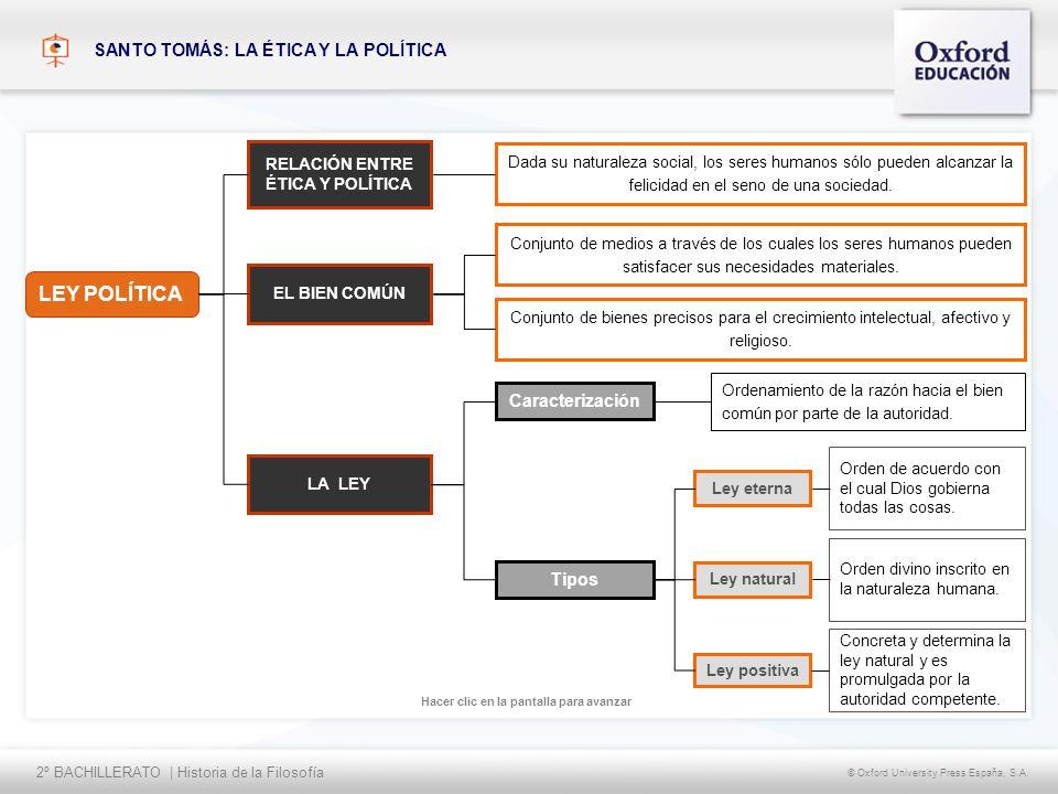 LEY POLÍTICA SANTO TOMÁS: LA ÉTICA Y LA POLÍTICA Caracterización Tipos