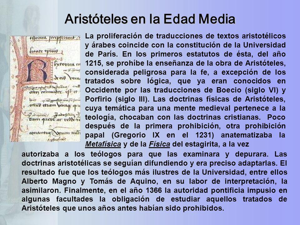 Aristóteles en la Edad Media