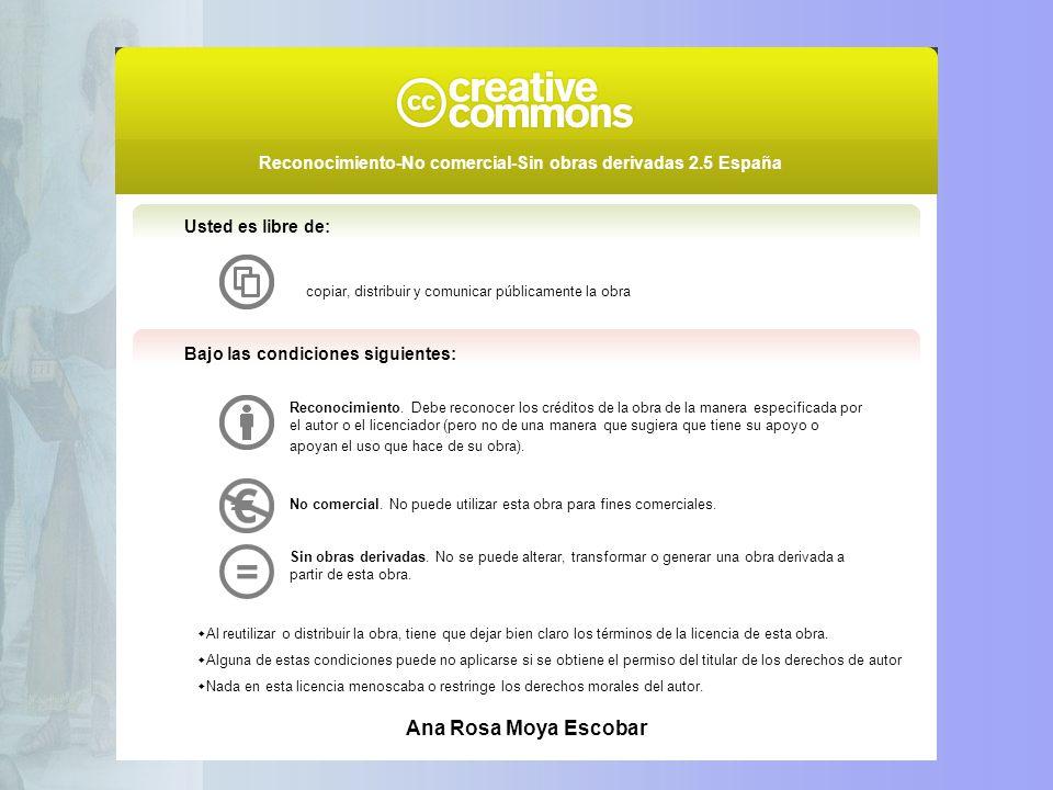 Usted es libre de: copiar, distribuir y comunicar públicamente la obra. Bajo las condiciones siguientes: