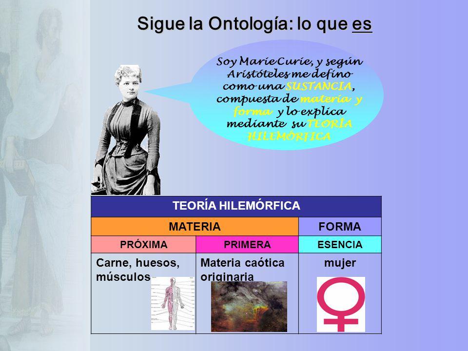 Sigue la Ontología: lo que es