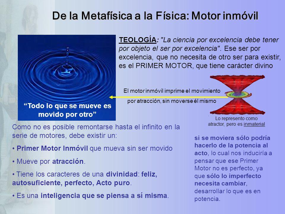 De la Metafísica a la Física: Motor inmóvil