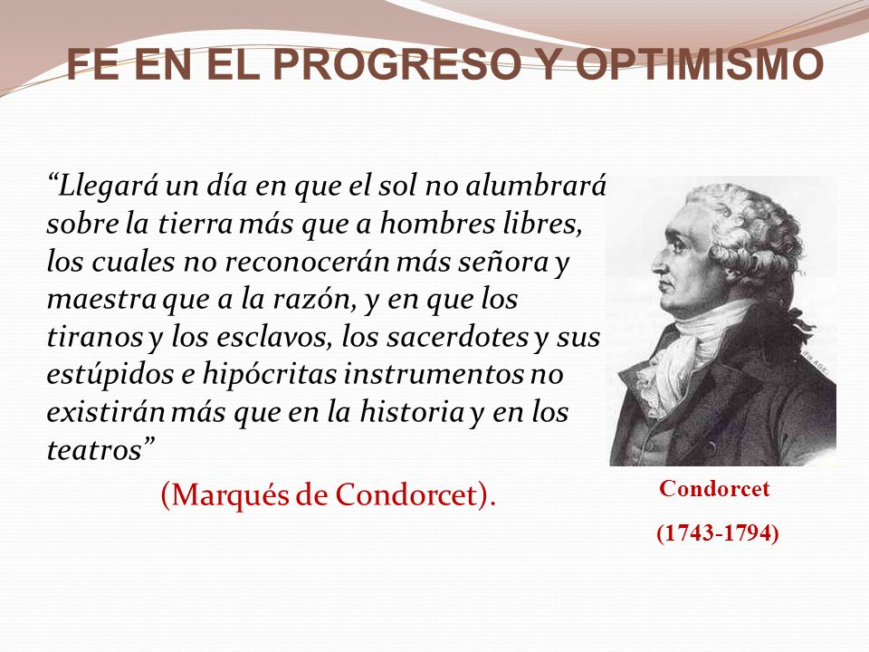 FE EN EL PROGRESO Y OPTIMISMO