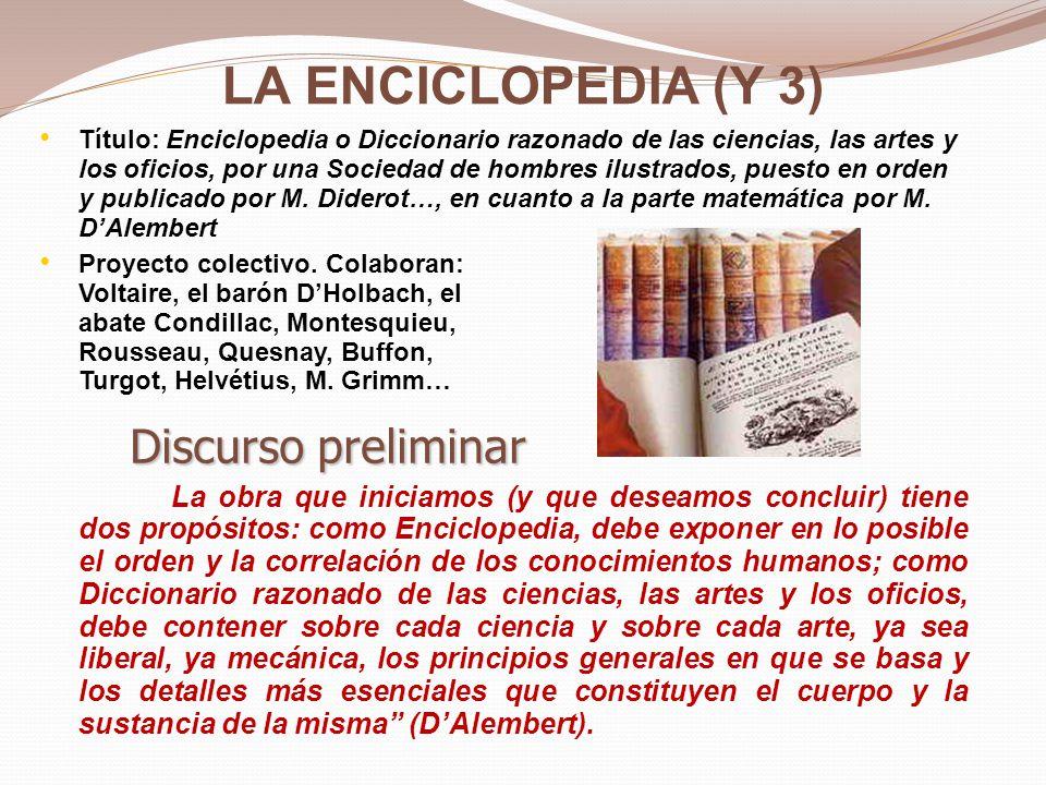 LA ENCICLOPEDIA (Y 3) Discurso preliminar