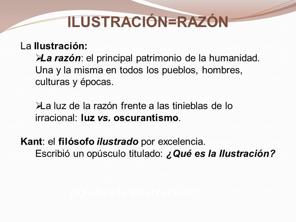 ILUSTRACIÓN=RAZÓN ¿Qué es la ilustración La Ilustración: