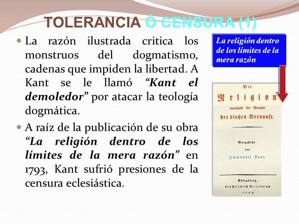 TOLERANCIA Ó CENSURA (1)