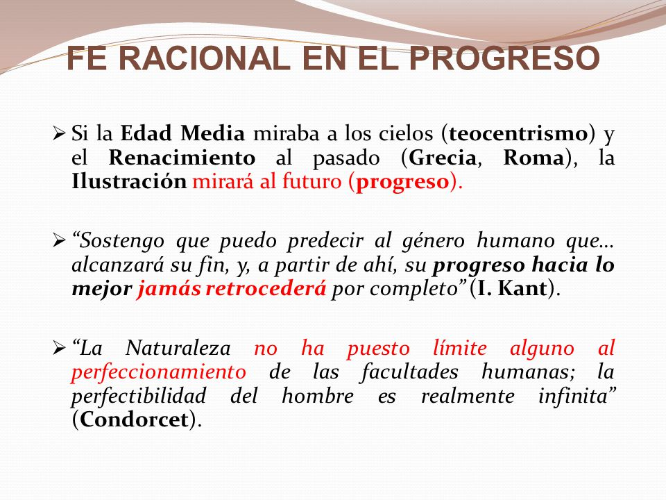 FE RACIONAL EN EL PROGRESO