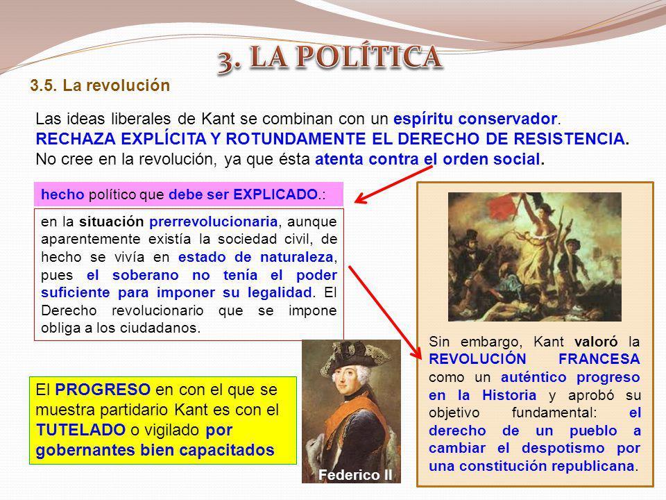 3. LA POLÍTICA 3.5. La revolución