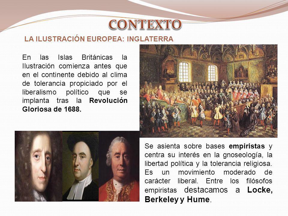 CONTEXTO LA ILUSTRACIÓN EUROPEA: INGLATERRA