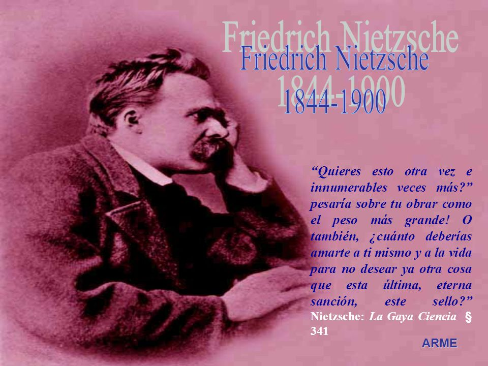 Friedrich Nietzsche 1844-1900.