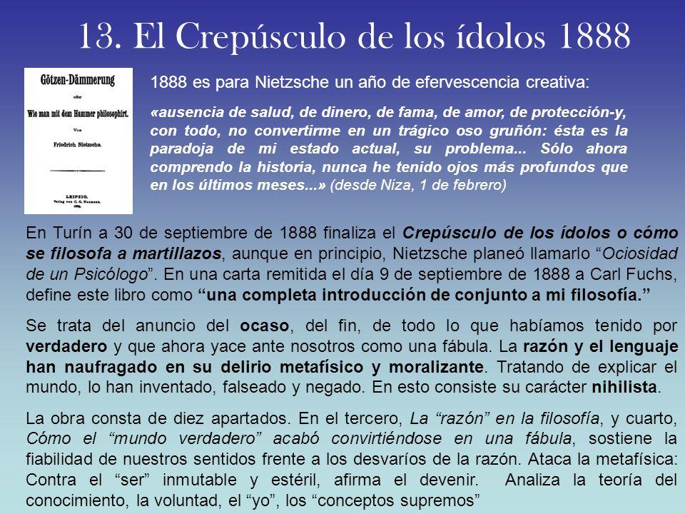 13. El Crepúsculo de los ídolos 1888