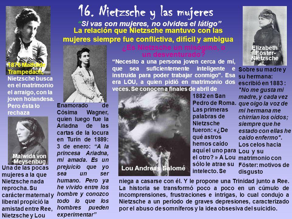 ¿Es Nietzsche un misógino, o un desventurado