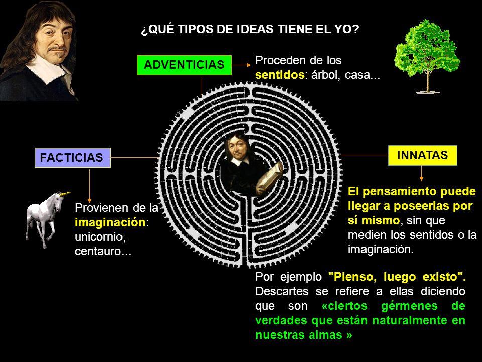 ¿QUÉ TIPOS DE IDEAS TIENE EL YO
