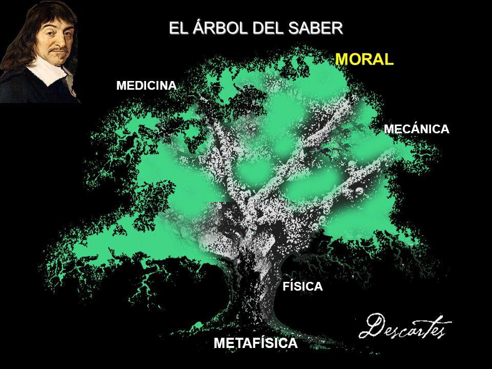 EL ÁRBOL DEL SABER MORAL MEDICINA MECÁNICA FÍSICA METAFÍSICA