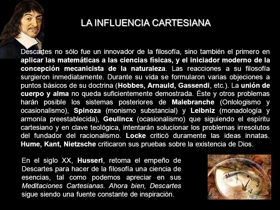LA INFLUENCIA CARTESIANA