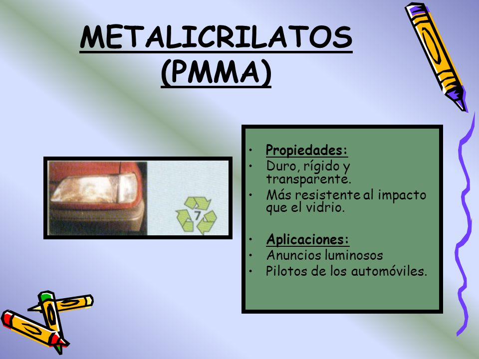 METALICRILATOS (PMMA)