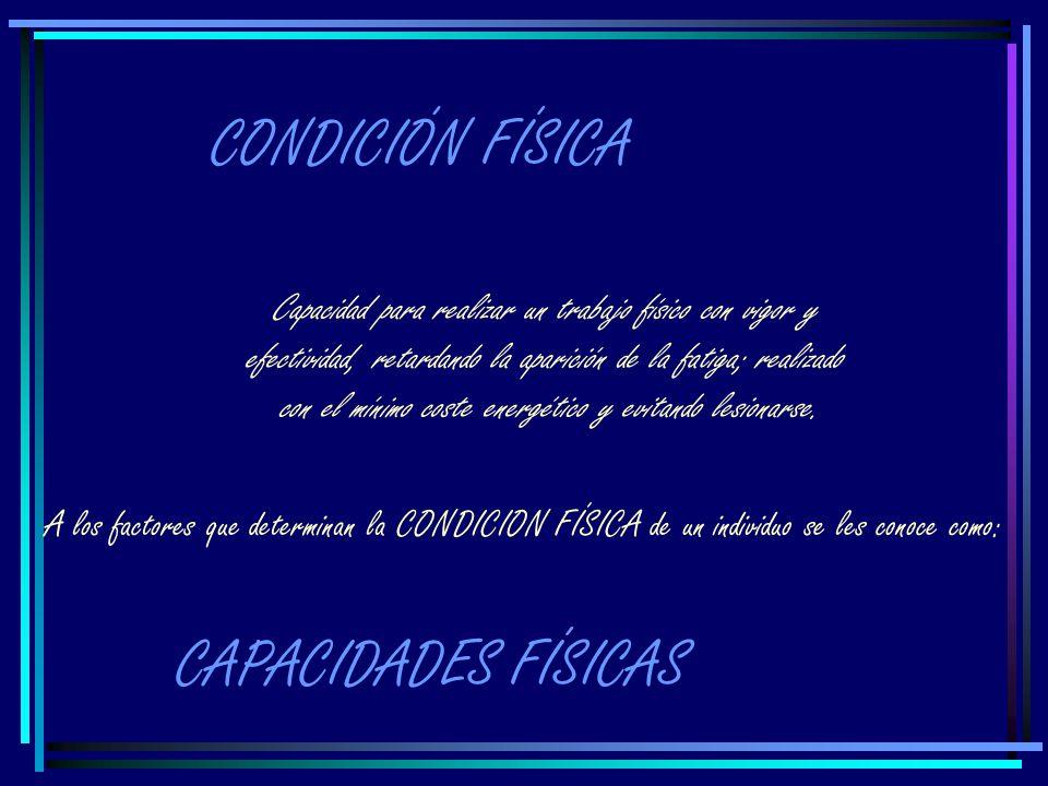 CONDICIÓN FÍSICA CAPACIDADES FÍSICAS