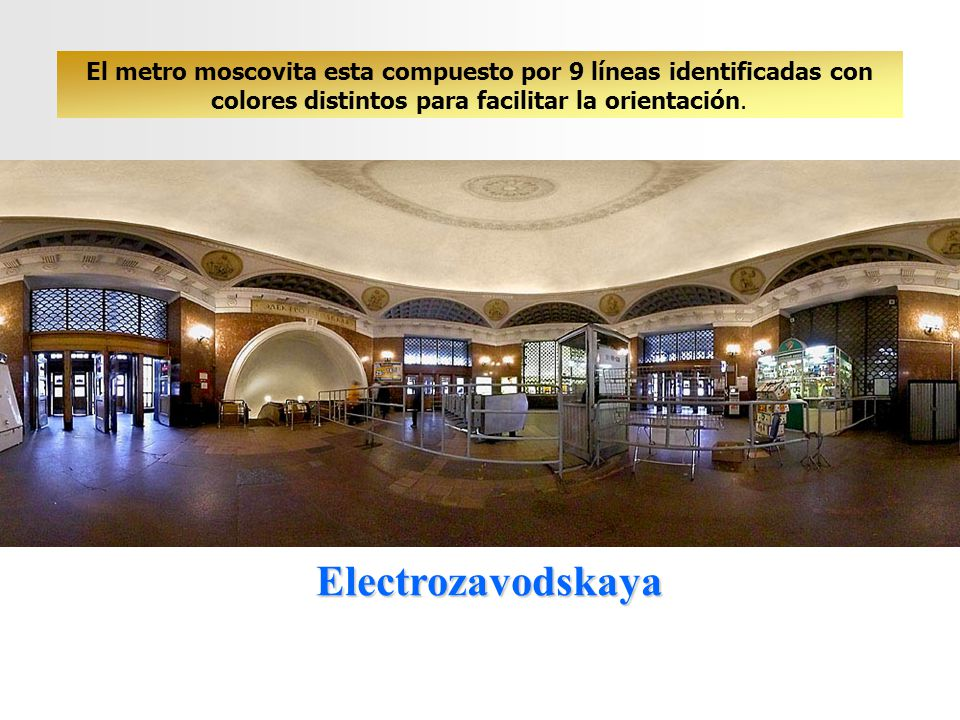 El metro moscovita esta compuesto por 9 líneas identificadas con colores distintos para facilitar la orientación.