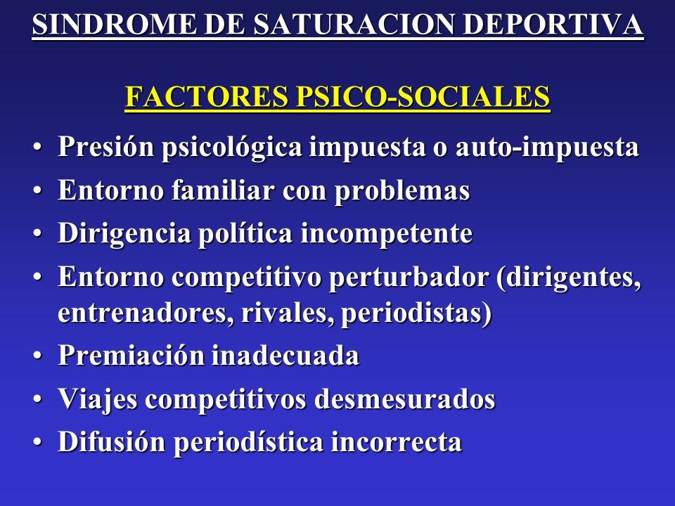 SINDROME DE SATURACION DEPORTIVA FACTORES PSICO-SOCIALES