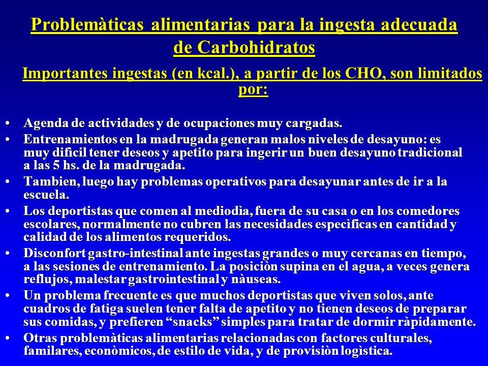 Problemàticas alimentarias para la ingesta adecuada de Carbohidratos