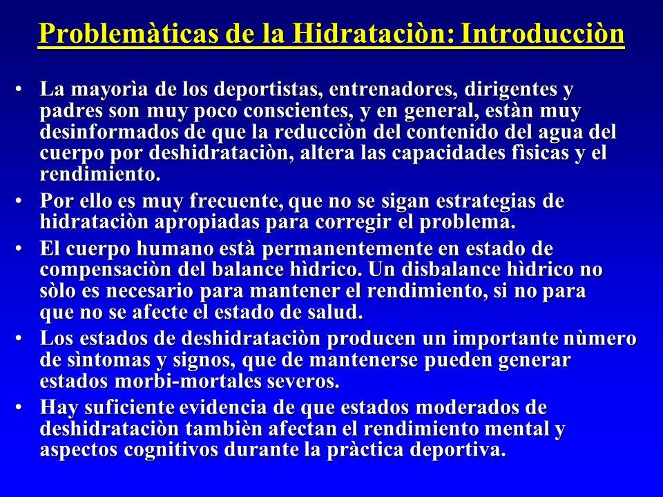Problemàticas de la Hidrataciòn: Introducciòn
