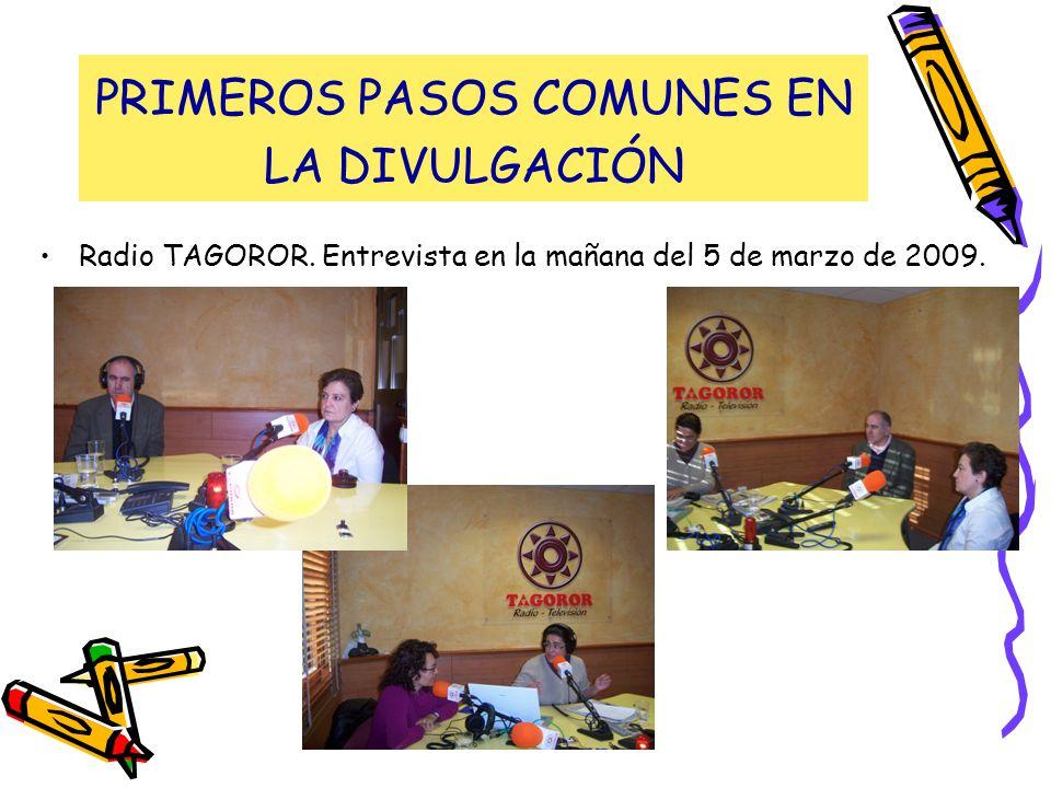 PRIMEROS PASOS COMUNES EN LA DIVULGACIÓN