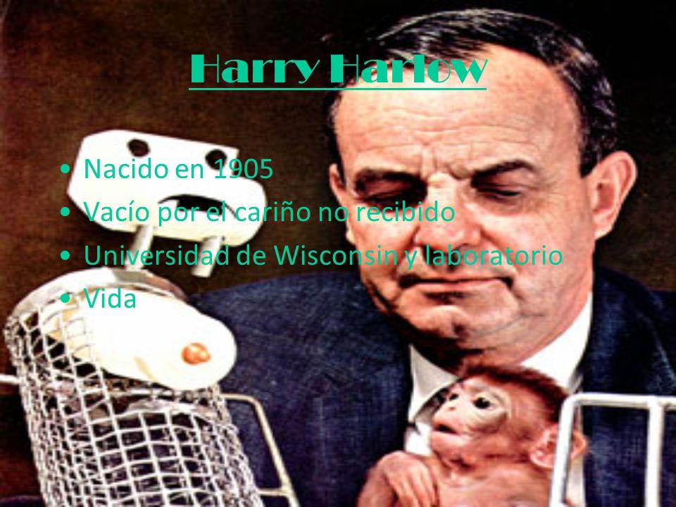 Harry Harlow Nacido en 1905 Vacío por el cariño no recibido