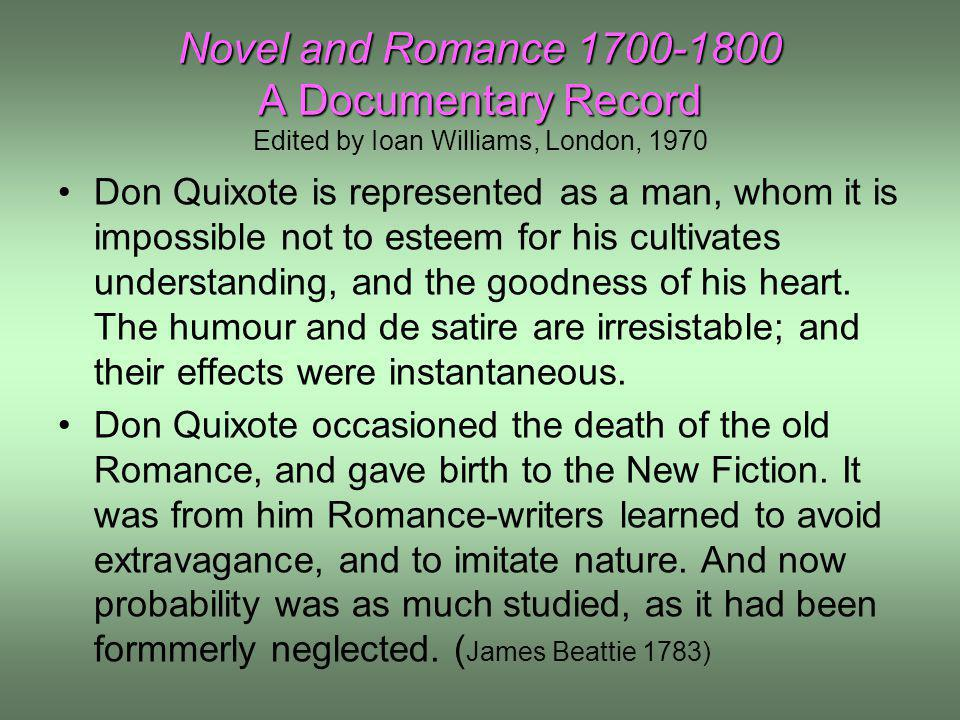 Novel and Romance 1700-1800 A Documentary Record Edited by Ioan Williams, London, 1970