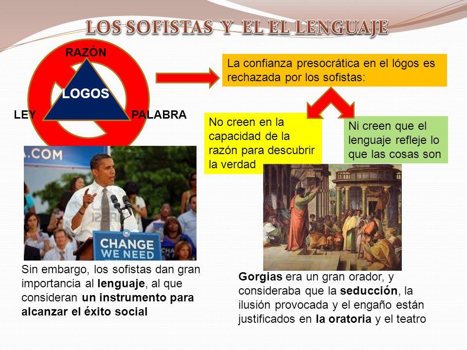 LOS SOFISTAS Y EL EL LENGUAJE