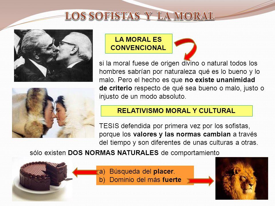 LA MORAL ES CONVENCIONAL RELATIVISMO MORAL Y CULTURAL