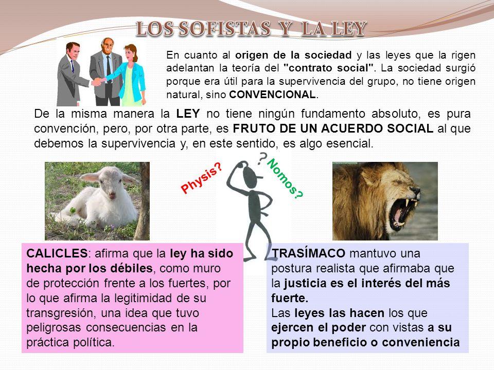 LOS SOFISTAS Y LA LEY