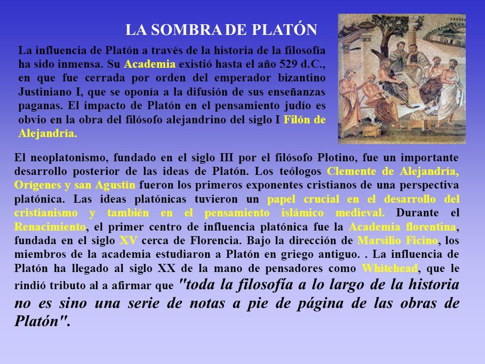 LA SOMBRA DE PLATÓN