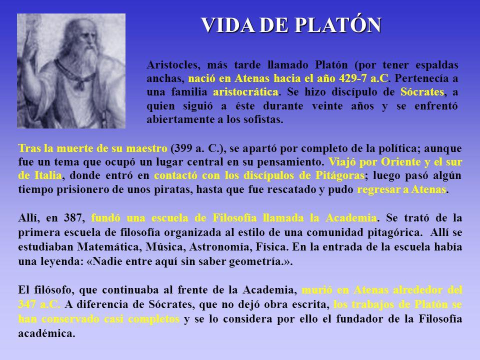 VIDA DE PLATÓN