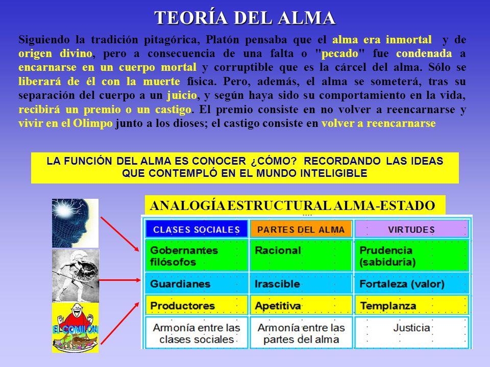 TEORÍA DEL ALMA ANALOGÍA ESTRUCTURAL ALMA-ESTADO