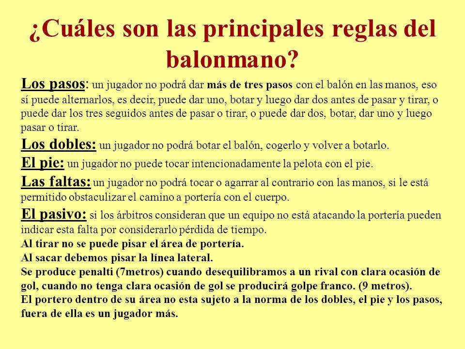 ¿Cuáles son las principales reglas del balonmano