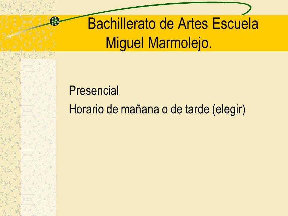 Bachillerato de Artes Escuela Miguel Marmolejo.
