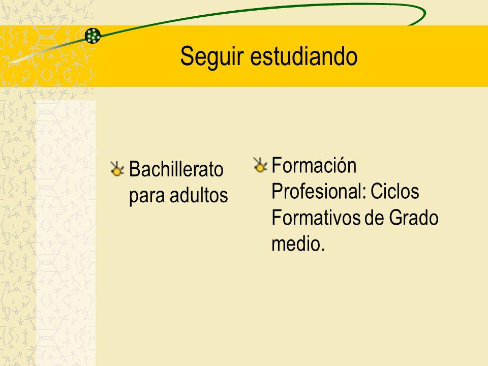 Seguir estudiando Formación Profesional: Ciclos Formativos de Grado medio.