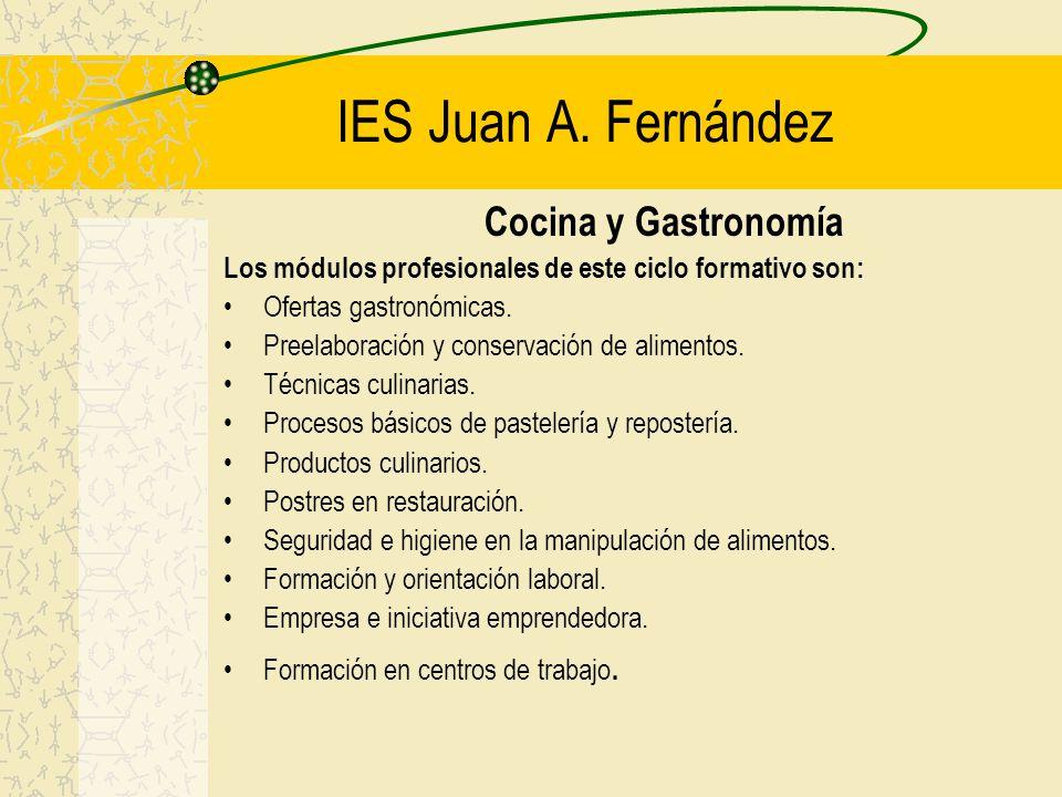 IES Juan A. Fernández Cocina y Gastronomía