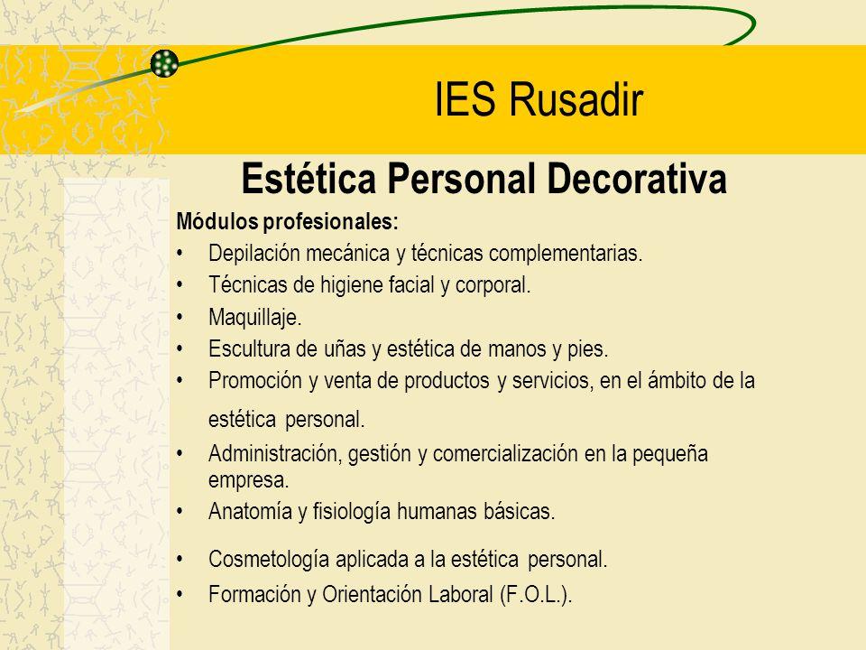 Estética Personal Decorativa