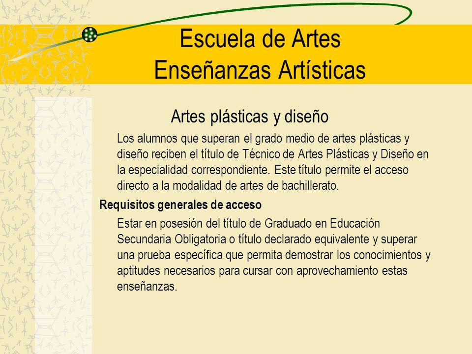 Escuela de Artes Enseñanzas Artísticas