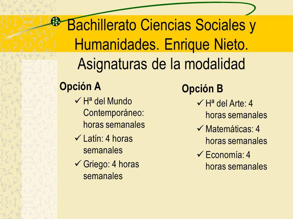 Bachillerato Ciencias Sociales y Humanidades. Enrique Nieto