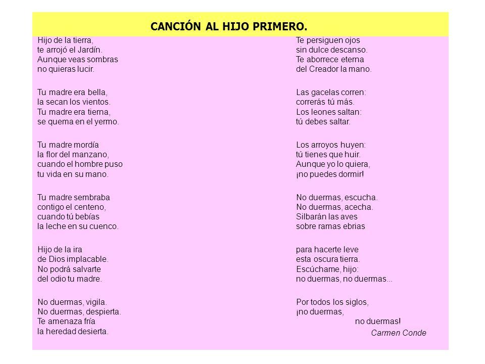 CANCIÓN AL HIJO PRIMERO.