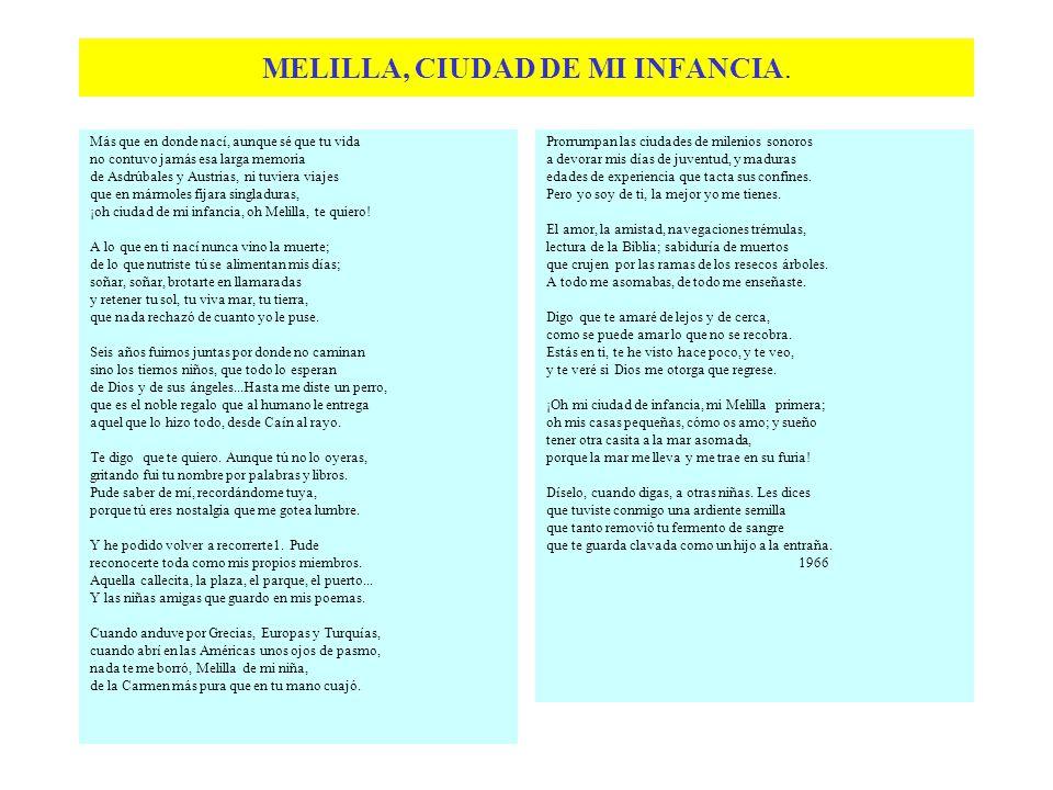MELILLA, CIUDAD DE MI INFANCIA.