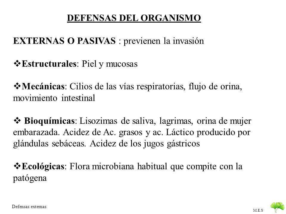 DEFENSAS DEL ORGANISMO