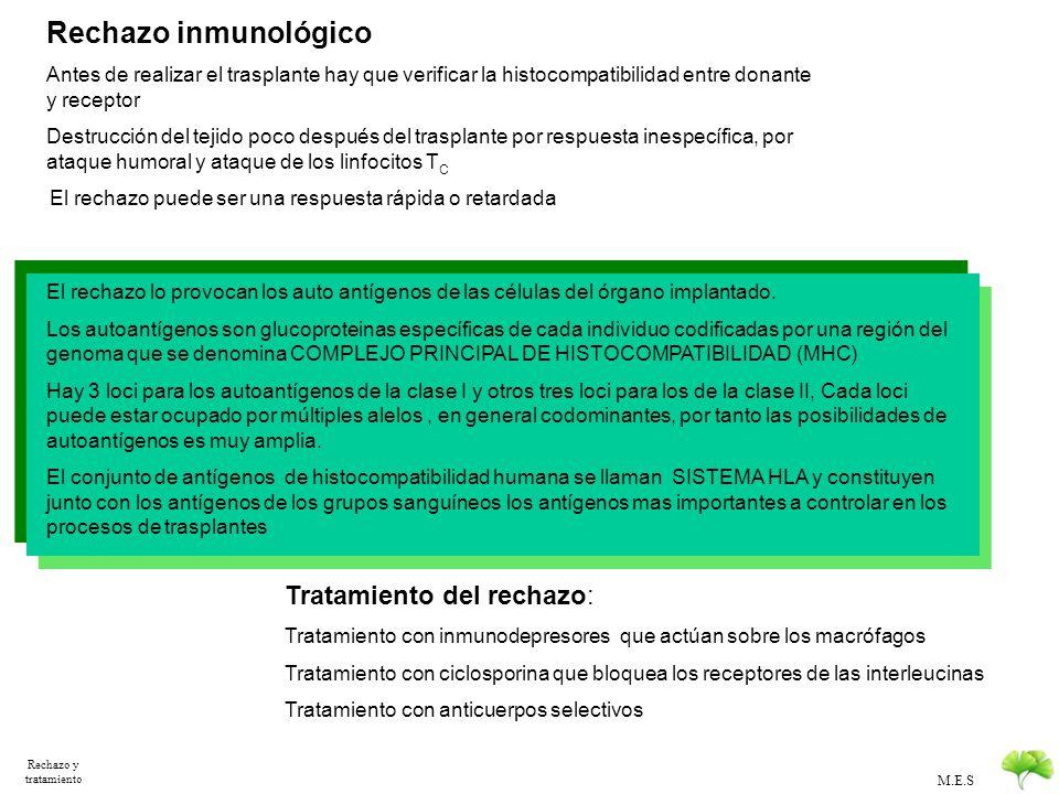 Rechazo inmunológico Tratamiento del rechazo:
