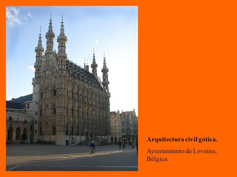 Arquitectura civil gótica.