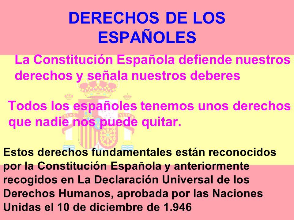 DERECHOS DE LOS ESPAÑOLES