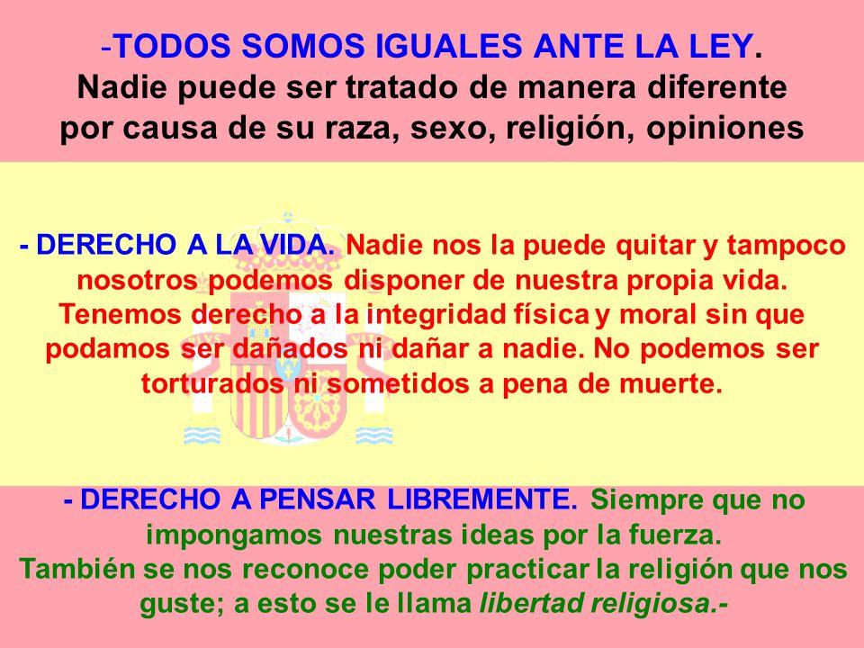 TODOS SOMOS IGUALES ANTE LA LEY
