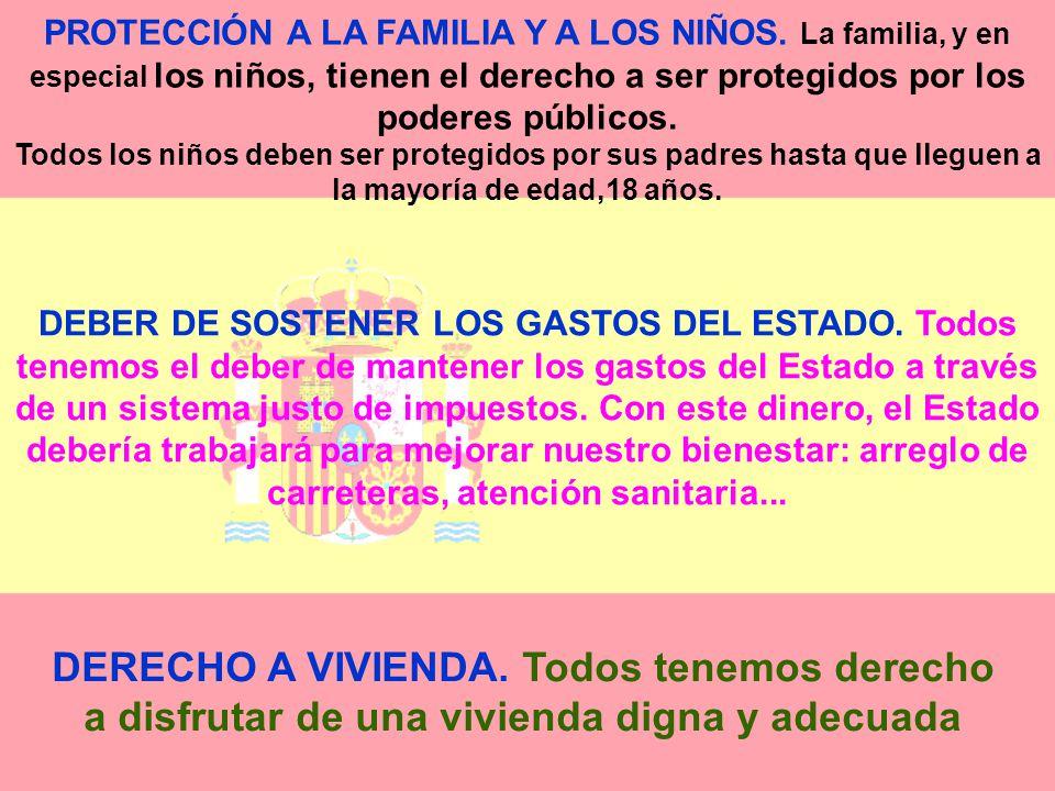 PROTECCIÓN A LA FAMILIA Y A LOS NIÑOS